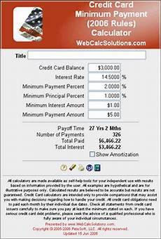Credit Card Apr Calculator Credit Card Apr Minimum Payment Calculator