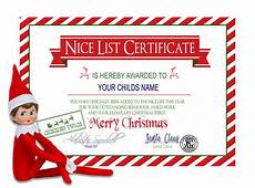 Santa Certificate Santa S Nice List Personalized Christmas Certificate Etsy