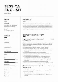 Receptionist Job Resumes Receptionist Resume Example Amp Writing Guide 12 Samples