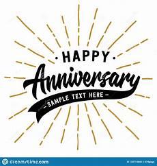 Happy Anniversary Design Happy Anniversary Lettering Design Vector And