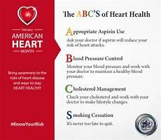 Heart Health Chart The Abc S Of Heart Health Health Mil