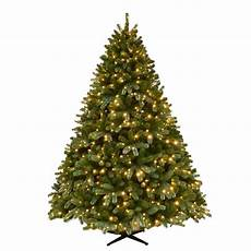 Fake Christmas Tree With Lights Home Accents Holiday 7 5 Ft Pre Lit Grand Fir Quick Set