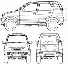 Car Blueprints Чертежи автомобилей Daihatsu