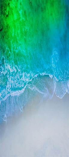 Iphone X Blue Water Wallpaper by Ios 11 Iphone X Aqua Blue Water Wave