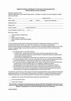 Self Identify Form Fillable Applicant Invitation To Self Identify Veteran