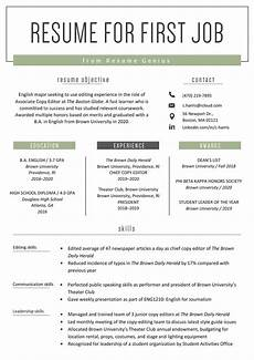 Sample Format Of Resume For Job How To Make A Resume For Your First Job Example
