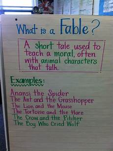 Fable Anchor Chart 2nd Grade What Is A Fable Anchor Chart Fairy Tales And Fables Pbl