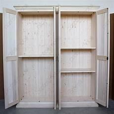 armadio legno massello pratelli mobili armadio su misura grezzo 4 ante in legno