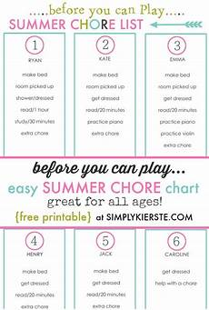 Chore List For Kids 5 Ways To Engage Your Kids On Summer Vacation