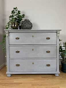 large antique grey painted chest of drawers bedroom