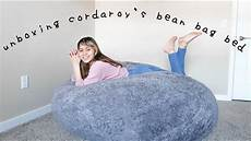 unboxing cordaroy s bean bag bed king size quarantined