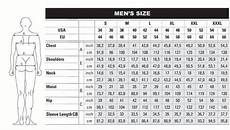 European Men S Clothing Size Conversion Http Www
