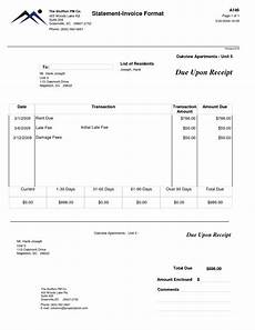 Rental Statement Form Rent Invoice Form Apcc2017
