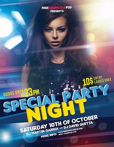 Flyer Partys Night Party Flyer Free Download Freedownloadpsd Com