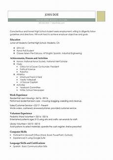 High School Student Resume Templates High School Resume Resumes Perfect For High School Students