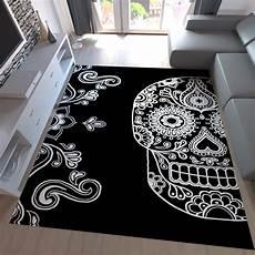 schlafzimmer ideen totenkopf gro 223 teppich totenkopf jugendzimmer modern schwarz weiss