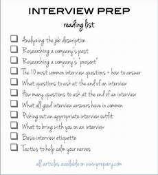 Skills To Offer An Employer How To Prepare For An Interview Use This Easy Checklist