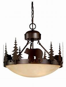 Rustic Lodge Pendant Lighting Bear Vaxcel Yellowstone Rustic Country Chandelier Bozeman