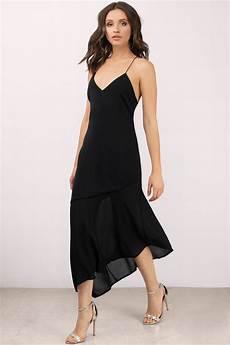 black dress cross back dress midi flare dress midi