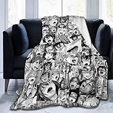 talckj flannel fleece throw blanket ahegao