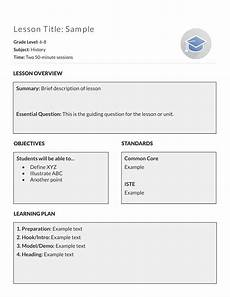 Outline Lesson Plan Example 5 Free Lesson Plan Templates Amp Examples Lucidpress