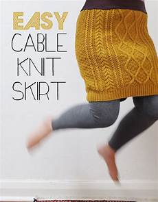 easy cable knit skirt a wardrobe refashion my poppet makes