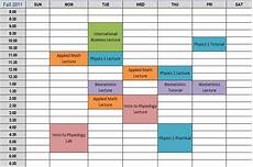 College Scheduler College Schedule Planner Template Business