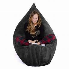 the lounge pug xl classic cord bean bag black you could