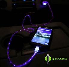 Wireless Phone Charger Light Up Red Cable W Led Glow Car Charger Micro Usb Cell Phone