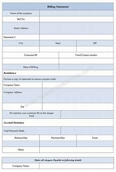 Billing Statement Form Billing Statement Form Bill Statement Template Sample Forms