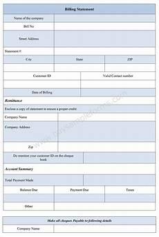 Billing Statement Sample Billing Statement Form Bill Statement Template Sample Forms