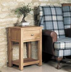 mobel solid oak 1 drawer small l side table wooden