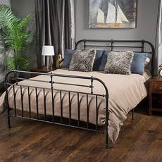 shop nathan king size metal bed frame by christopher