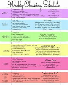 Cleaning House Schedule Chart Minimalist Martha Cleaning Schedule Schmedule