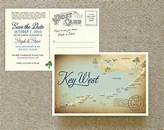 Wedding Save The Date Postcards Vintage Map Postcard Save The Date Key West Fl