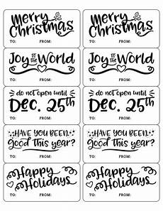 Christmas Labels Black And White Diy Christmas Gift Tag Amp Label Printables Onlinelabels Com