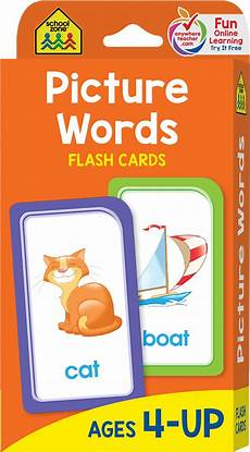 Flash Cards Words Picture Words Flash Cards Kool Amp Child