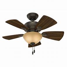 Luminous Ceiling Fan With Light Hunter Watson 34 In Indoor New Bronze Ceiling Fan With