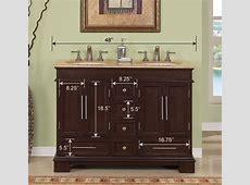 48inch Erika Vanity   Space Saving Vanity   Double Sink Vanity