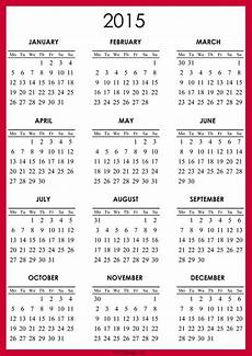 Free Printable Yearly Calendar Templates 2015 Free 2015 Calendar Calendar Printables Printable
