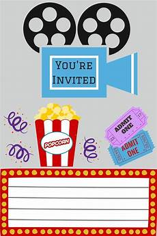 Movie Themed Invitation Template Free Free Printables Movie Night For Kids Movie Party
