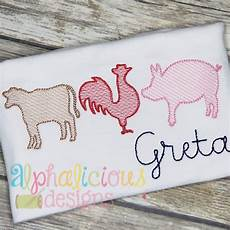farm trio sketch embroidery alphalicious designs