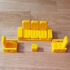 Miniature Sofa 3d Image by 3d Printer Model Mini Sofa Set Cults