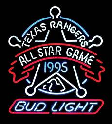 Bud Light Texas Neon Sign Breweriana Neon Sign Quot Texas Rangers All Star Game 1995