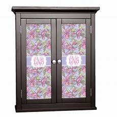 orchids cabinet decal small personalized youcustomizeit
