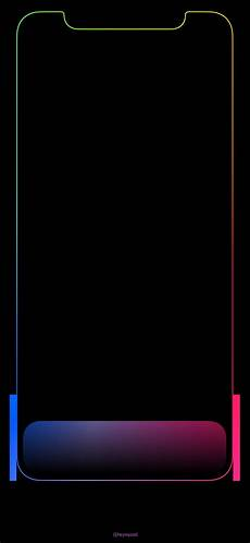 iphone x black wallpaper with border pin by arditto raharjo on iphone x wallpaper apple