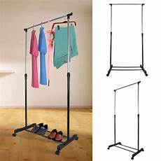 mobile clothes hanging rack adjustable mobile clothes coat garment hanging rail rack