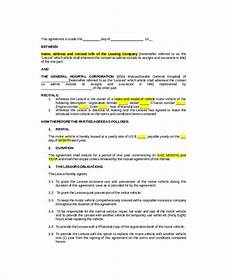 Vehicle Lease Agreement Sample 11 Sample Vehicle Lease Templates Pages Docs Free