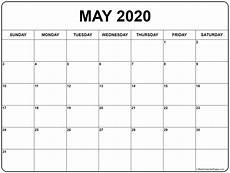 Blank May Calendar 2020 May 2020 Calendar 51 Calendar Templates Of 2020 Calendars