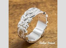 Set of Traditional Hawaiian Hand Engraved Sterling Silver